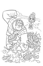 wreck ralph destroy vanellope u0027s car coloring pages batch coloring