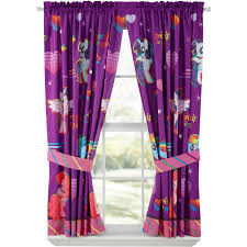 my little pony ride the wind girls bedroom curtains walmart com