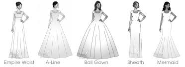 different wedding dress shapes different wedding dress styles types of wedding dress skirts