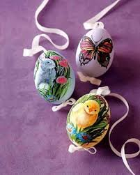 blown easter eggs easter decoration ideas with brightly painted and splendidly