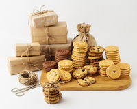 holiday christmas and new year homemade cookies for gifts sel