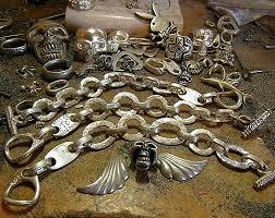 custom silver bracelets skull ring factory by tony creed