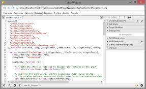 Open Table Widget Create A Widget Guide Arcgis Api For Javascript 3 22
