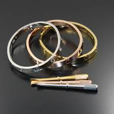 titanium steel love bracelet images Wholesale titanium steel carter love bracelets bangles couple jpg
