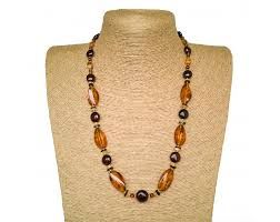 natural amber necklace images Cognac color twisted natural amber necklace x cherry beads amber jpg