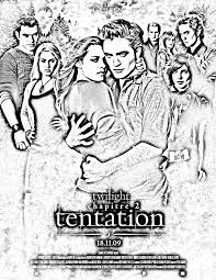 Tentation volume two of Twilight  Movies Adult Coloring Pages