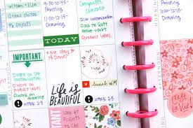 the happy planner april week embellished w trimmed pocket