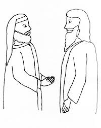 bible story coloring page for jesus and nicodemus free bible