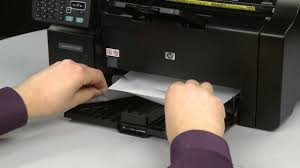 fixing a paper jam hp laserjet pro m1212nf youtube