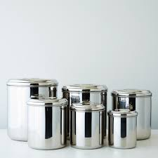 stainless steel canister sets kitchen stainless steel canisters set of 6 on food52