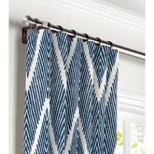 Navy Chevron Curtains Tribal Curtains Panels Arrow Drapes Feather Curtains Nursery