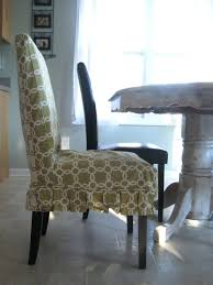 Slipcovered Parsons Dining Chairs Chairs Slipcovered Parsons Chairs Pretty Fabric Seat Plus Wooden