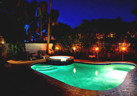 best view of mansion with pool at night with great lighting