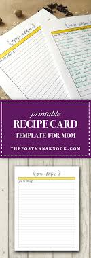 printable recipe cards template printable recipe card template for mom the postman s knock