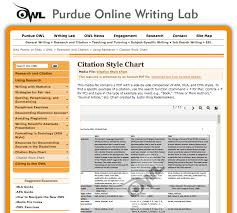 purdue owl citation style chart a side by side comparison of