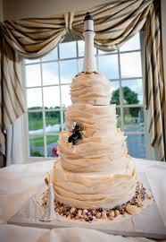 nautical themed wedding cakes nautical theme ivory wedding cake with fondant waves edible