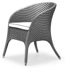 chaises tress es 1 chaise en resine tressee design bi color gris discount design