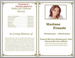 Templates For Funeral Program Funeral Pamphlet Templates Editable In Word In Classic Border