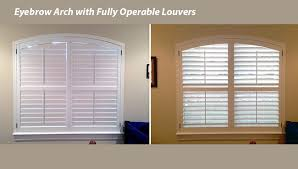 Arch Windows Decor Great Plantation Shutters For Arched Windows In Tx With