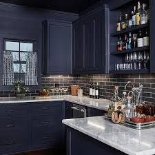 blue kitchen cabinets with granite countertops blue cabinets with black countertops design ideas