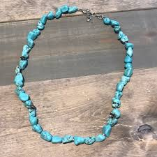 turquoise blue stone necklace images Lucky brand jewelry turquoise stone necklace poshmark jpg