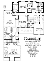 baby nursery cottage house plans small house floor plans cottage moss stone cottage house plan plans by garrell associates basement nd floor mossstonecottage second