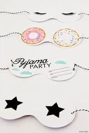 art and chic pyjama party printable crafts projects with