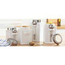 oggi kitchen canisters oggi 4 ceramic canister set with stainless lids ii kitchen