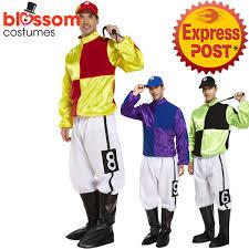 Horse Jockey Halloween Costume K389 Jockey Horse Rider Mens Uniform Fancy Dress Sports