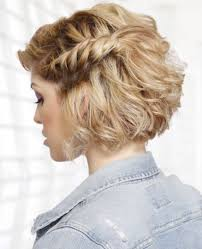 hairstyles to add more height short bob with side braid bridesmaid hair for certain maids