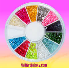 12 colors nail art tips pearls beads decoration wheel u2013 nail art