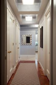 Hallway Ceiling Light Fixtures Interior Hallway Ceiling Light With Square Glass Shade Hanging On