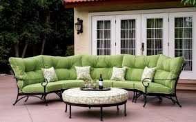 Patio Chair And Ottoman Set Patio Furniture Deep Seating Sectional Cast Aluminum Set Crescent