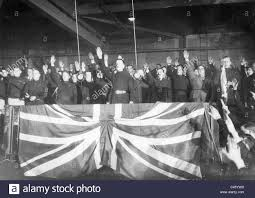 Union Of The Flag Oswald Mosley At A Rally Of The British Union Of Fascists 1934