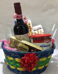 wine basket wine gift basket embellished with cheese crackers chocolates