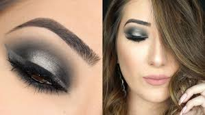make up tips for salt and pepper hair black and grey halo smokey eye makeup tutorial youtube