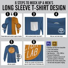 label templates for adobe photoshop men s long sleeve t shirt mockup templates thevectorlab