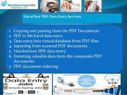 advantages of hiring pdf data entry services