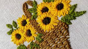 hand embroidery designs for baby clothes flower basket