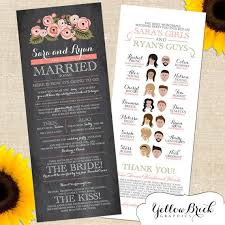 printed programs wedding programs a collection of weddings ideas to try unique