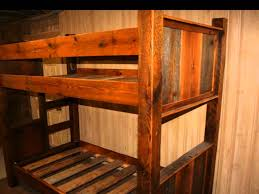 Wooden Bunk Bed Plans Free by Rustic Bunk Beds Youtube
