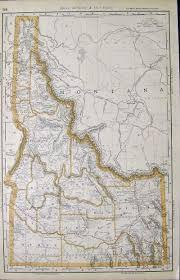 Idaho County Map Prints Old U0026 Rare Idaho Page