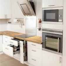 cuisine equipee blanche idee cuisine equipee cuisine blanche design meuble iris blanc