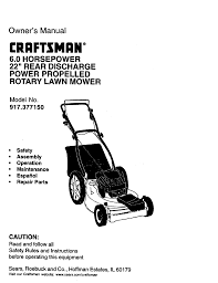 craftsman 917 377150 owner s manual
