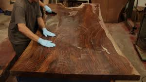 live edge table top finishing a stunning claro walnut dining table top live edge slab