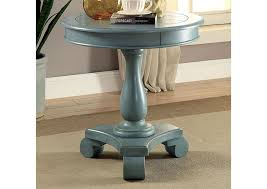 teal accent table paradise home furniture kalea antique teal round accent table