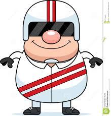 cartoon race car driver stock vector image 47714856