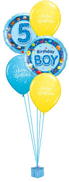 birthday balloon bouquet boys 5th birthday balloon bouquet party fever