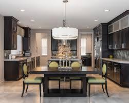 Dining Room Drum Chandelier by Opulent Kitchen Design With Dark Wood Drum Chandelier And Apple