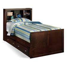 kids twin bed with storage kids furniture varsity merlot twin